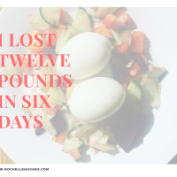 I lost 12lb in SIX days.